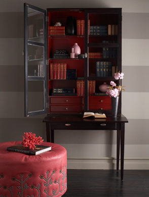 Armoire with books