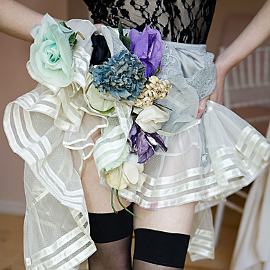 Hemline with flowers